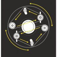 Metallkraft RSM 114 bolygóműves csőcsiszoló